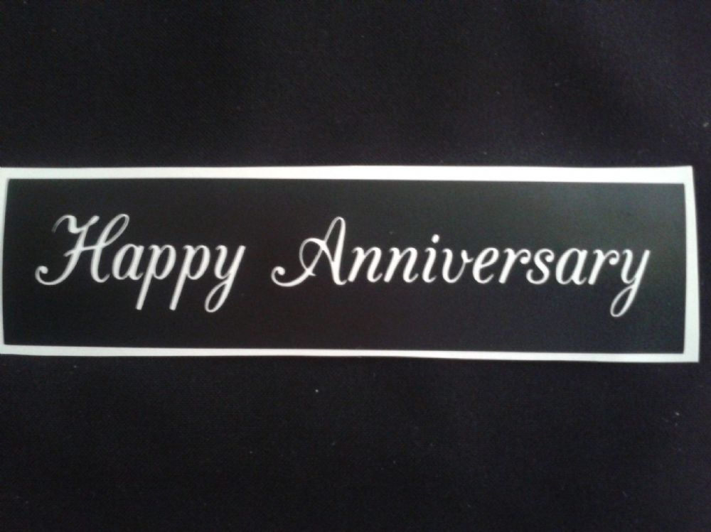 Happy Anniversary Words Stencils For Etching On Glass